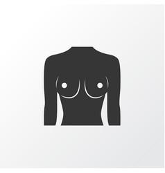 breast icon symbol premium quality isolated boob vector image