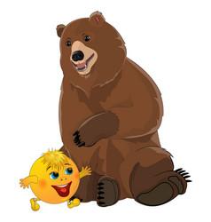 Bun kolobok and bear vector