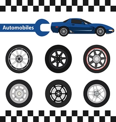car wheel 03 01 vector image vector image