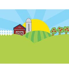 Cartoon farm vector image vector image