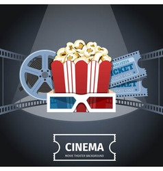 Cinema poster design template vector