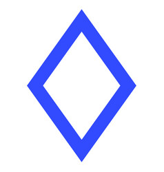 Contour rhombus flat icon vector