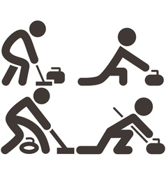 Curling icons vector