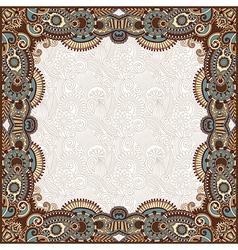 floral vintage frame vector image vector image
