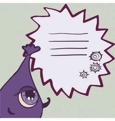 Funny purple monster with frame for text vector image vector image