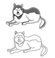 husky dog vector image vector image