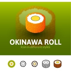 Okinawa roll icon in different style vector