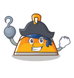 Pirate dustpan character cartoon style vector
