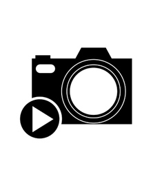 Play button and camera icon vector