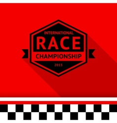 Racing stamp-06 vector image vector image