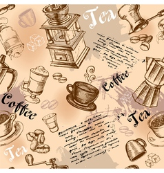 Seamless coffee vector image vector image