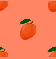 Seamless pattern with ripe yummy mango vector