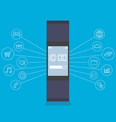 Smartwatch wearable technology device vector