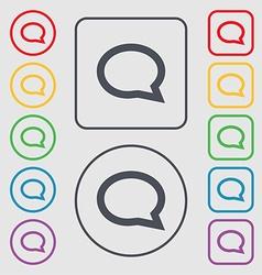 Speech bubble icons think cloud symbols symbols on vector