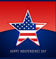 star with american flag background vector image vector image