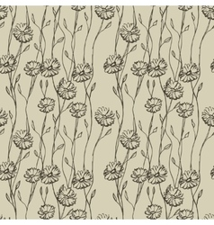 Wildflowers seamless vector
