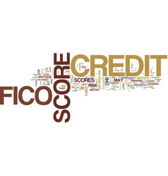 You and your fico score text background word vector