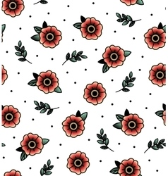 Seamless pattern with swallows vector