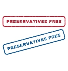 Preservatives free rubber stamps vector