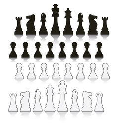 Chess symbols vector