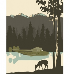 Wilderness poster vector