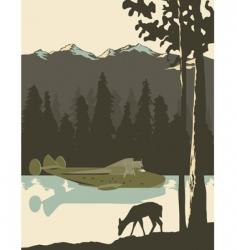 wilderness poster vector image