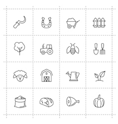Farming icons vector