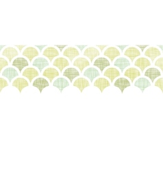 Abstract textile green fishscale horizontal vector