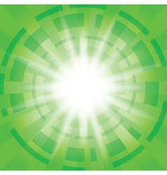 Green abstract background with radial abstractions vector