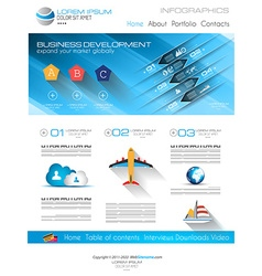 Attractive modern business web template with flat vector