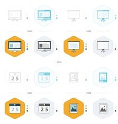 Office icon 4 design computer presentation vector