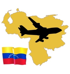Fly me to the venezuela vector