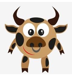bull farm animal vector image
