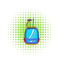 Funicular icon comics style vector