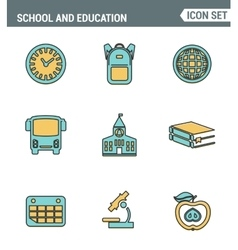 Icons line set of premium quality elementary vector