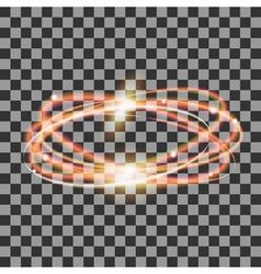 glowing gold circles vector image