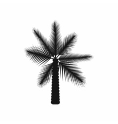 Big palm tree icon simple style vector