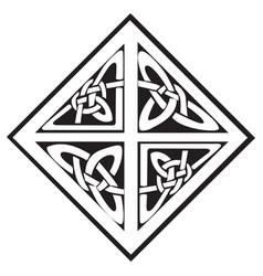 a square celtic knots design vector image vector image