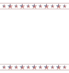 American patriotic frame with empty space on vector image vector image
