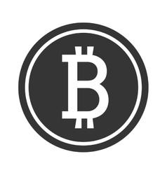Black money coin icon bitcoin signal vector