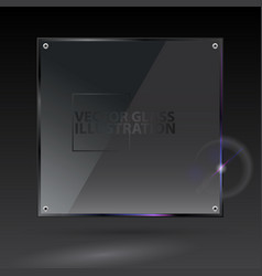 black square glass - - transparent vector image