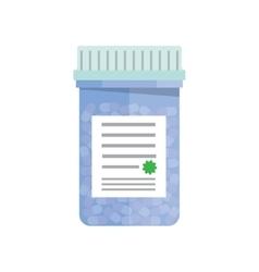 Bottle with capsule pills vector