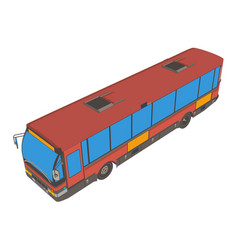 bus red london vehicle isolated van transport city vector image