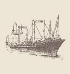 cargo ship reefer forward vector image vector image