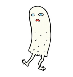 Comic cartoon funny ghost vector