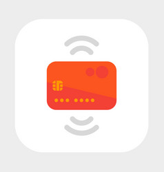 Contactless credit card icon flat style vector