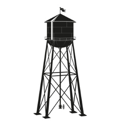 contour of the old water tower vector image