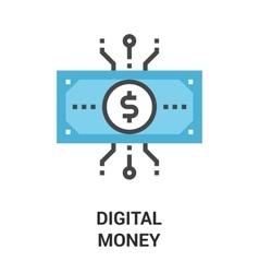 Digital money icon concept vector