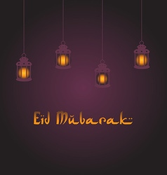 Eid mubarak greeting background vector