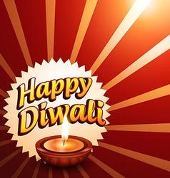 Glowing happy diwali background vector